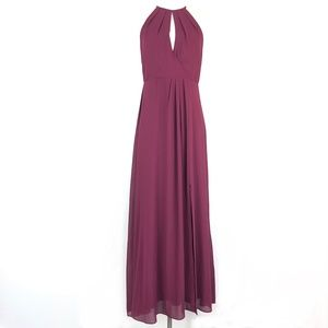 BHLDN Marco Dress in Wine ALTERED Bust Fits Small